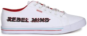 Flying Machine Men White Sneakers -