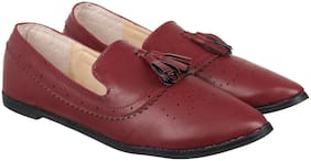 Footilicious Women Red Loafers