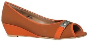 Footin By Bata Women Synthetic Slip on - Uk 3 , Tan