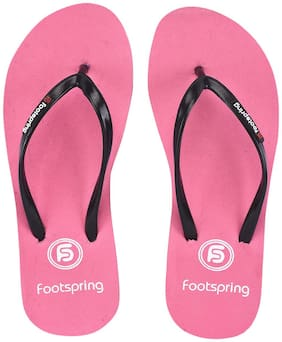 FOOTSPRING Women Pink Slippers