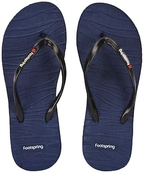 FOOTSPRING Women Navy Blue Slippers