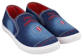 Men Blue Loafers ,Pack Of 1 Pair