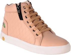 For Feet Women Beige Casual Shoes