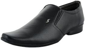 FANTUM Men Black Monk Shoes Formal Shoes