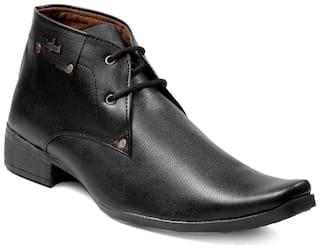 Four star men's black formal shoes