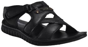 Franco Leone Black Leather Sandal