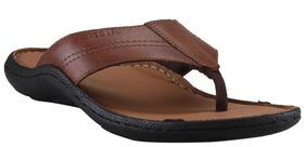 Franco Leone Tan Leather Slippers_And_Flip_Flops