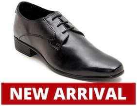 Franco Leone Men Black Formal Shoes