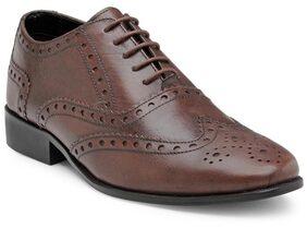 Franco Leone Men Brown Formal Shoes - 15070