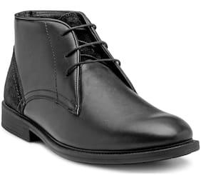 Men Black Chukka Boots