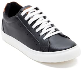Franco Leone Men Black Casual Shoes - 9956
