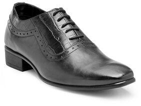 Franco Leone Black Leather Formal_Shoes