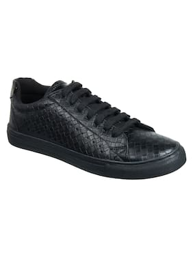 Franco Leone Men Black Sneakers - 15080 N