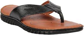 Franco Leone Black Leather Slippers