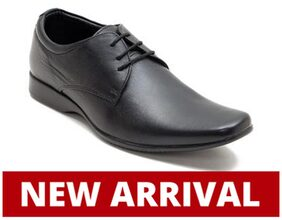 Franco Leone Men Black Formal Shoes - 15026