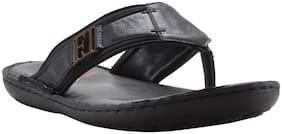 Franco Leone Black Leather Slipper