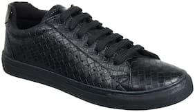 Men Black Slip-On Sneakers