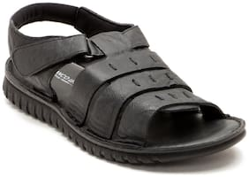 Franco Leone Black Leather Sandal