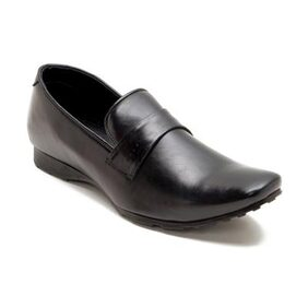 Franco Leone Black Synthetic Leather Loafers
