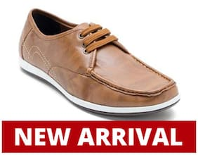 Franco Leone Men Tan Casual Shoes - 15031