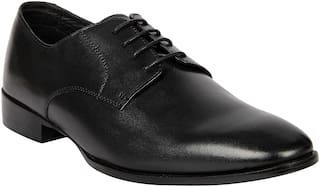 Franco Leone Men Black Formal Shoes