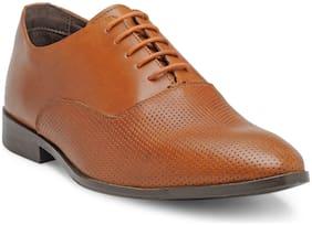 Franco Leone Men Tan Formal Shoes