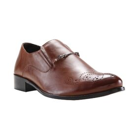 Franco Leone Tan Synthetic Formal_Shoes