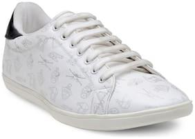 Franco Leone Men White Casual Shoes