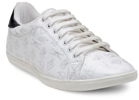Franco Leone Men White Casual Shoes