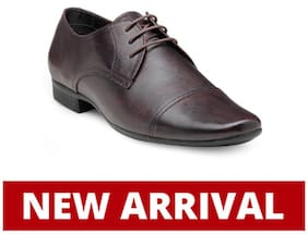 Franco Leone Men Maroon Formal Shoes