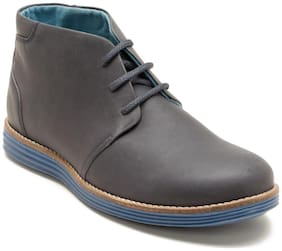 Franco Leone Men's Grey Chukka Boots