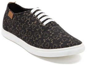 Franco Leone Black Synthetic Casual Shoes