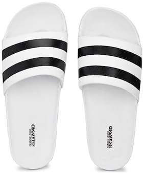 Franco Leone Men White Flip-Flops - 1 Pair
