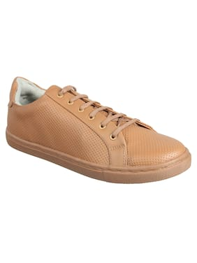 Franco Leone Men Tan Sneakers