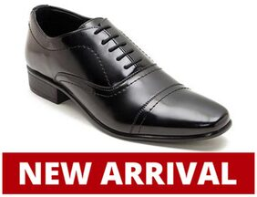 Franco Leone Men Black Formal Shoes - 15010