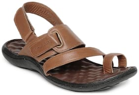 Franco Leone Brown Leather Sandal