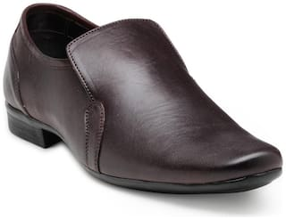 Franco Leone Men Brown Formal Shoes