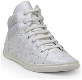 Men White Plimsoll Sneakers
