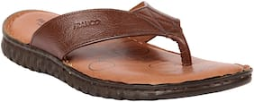 Franco Leone Brown Leather Slippers