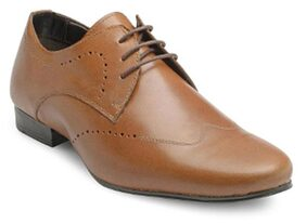 Franco Leone Men Tan Formal Shoes