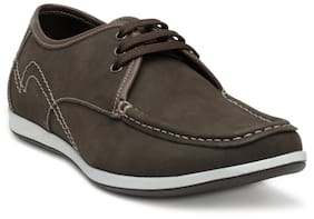 Franco Leone Men Brown Casual Shoes - Lace Up
