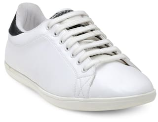 Franco Leone Men White Sneakers - Lace Up