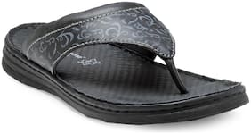 Franco Leone Black Leather Slipper