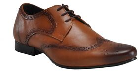 Franco Leone Men Tan Formal Shoes - 9788