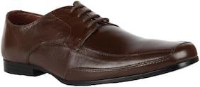 Men Brown Oxford Formal Shoes
