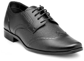 Franco Leone Men Black Formal Shoes - Lace Up