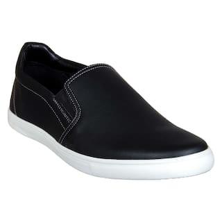 Franco Leone Men Black Casual Shoes