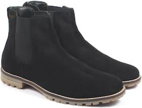 Freacksters Men Black Chelsea Boots