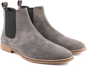 Freacksters Men Grey Chelsea Boots
