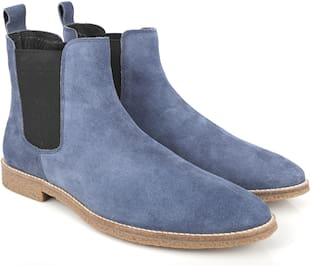 Freacksters Men Blue Chelsea Boots
